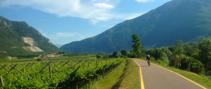 bike path trento private tours italy