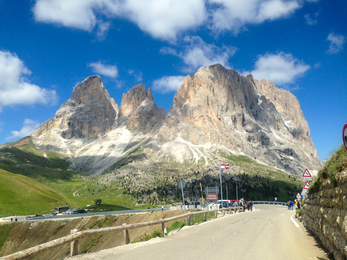 passo sella dolomites cycling tour