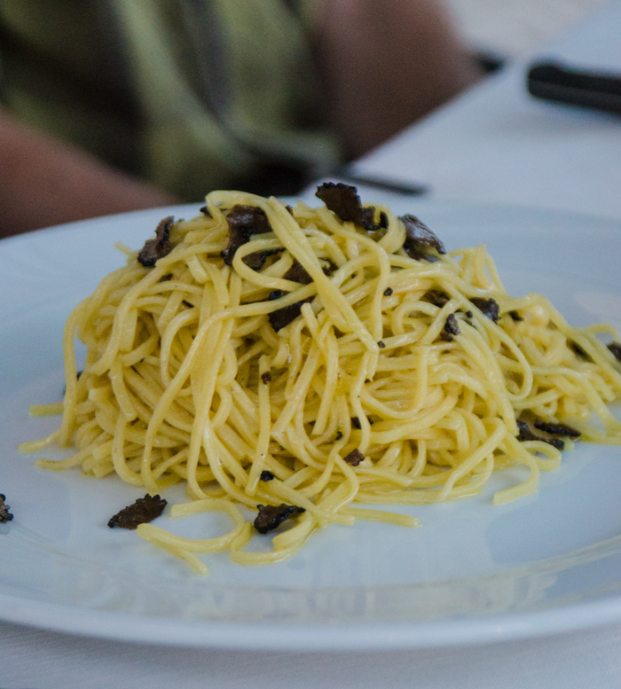 truffles pasta food bike tours