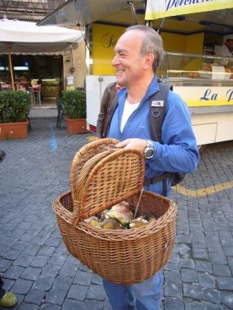 local mushrooms market umbria bike tours