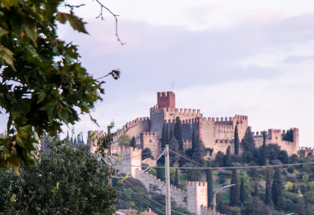 soave castle wine cycling tours italy