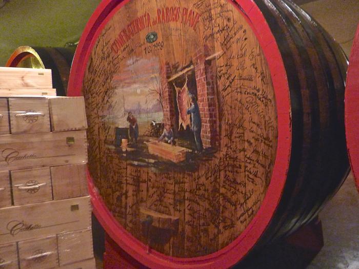 aging barrels cecchetto wine tours italy